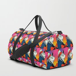 Portrait of a Cat in a Hat Duffle Bag