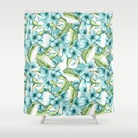 blossom Shower Curtains featuring Blossom by Julia Badeeva