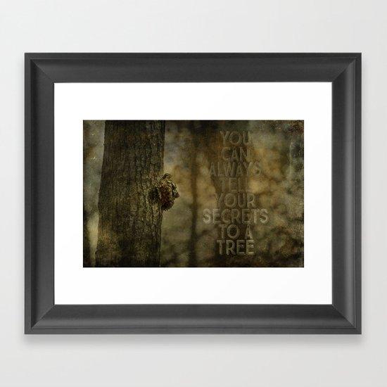 Tree of Secrets Framed Art Print