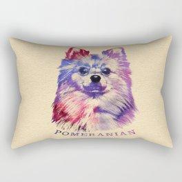 Cute Pomeranian German Spitz Rectangular Pillow
