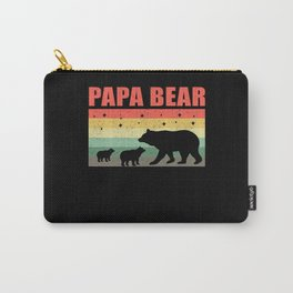 Papa Bear Bears Family Gift Idea Dad Carry-All Pouch