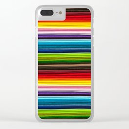 Indian Summer Colors Stripe Clear iPhone Case
