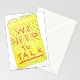 We Need to Talk Stationery Cards