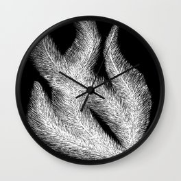 Fluffy Feathers Negative Wall Clock