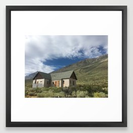 Alone on the Mountain Framed Art Print