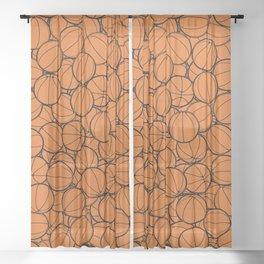 Hoop Dreams II Sheer Curtain