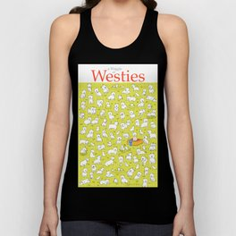 A Waggle of Westies Unisex Tank Top