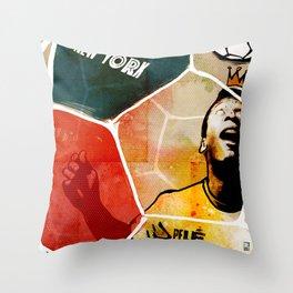 The New York Cosmos' Pelé (King of Soccer) Throw Pillow