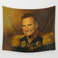 replaceface Wall Tapestries featuring Robin Williams - replaceface by replaceface