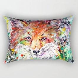 Hide and Seek - Fox Painting Rectangular Pillow