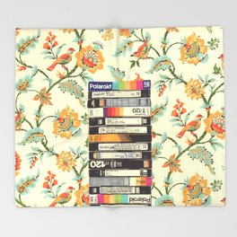 VHS & Entry Hall Wallpaper Throw Blanket