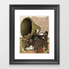 Good Friends Are Hairy Framed Art Print