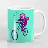 cycling Mugs featuring Cycling Disaster by Artistic Dyslexia