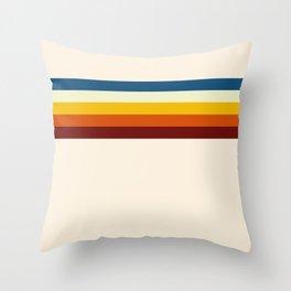 Never-ending Summer Time Retro Stripe Throw Pillow