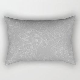 Peony Flower Pattern II Rectangular Pillow