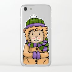 A Lion in Winter Clear iPhone Case