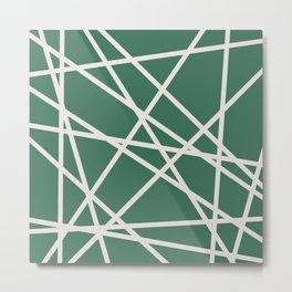 Emerald Lines Metal Print