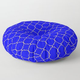 Modern Ethnic Style (Light Orange & Blue Pattern) Floor Pillow