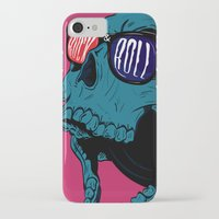 rock n roll iPhone & iPod Cases featuring Rock N' Roll Skull by Diseños Fofo