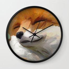 Smiling Fox Wall Clock