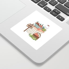 Apple Stand Sticker