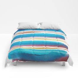 10   |181026 Lines & Color Block | Watercolor Abstract | Modern Watercolor Art Comforters