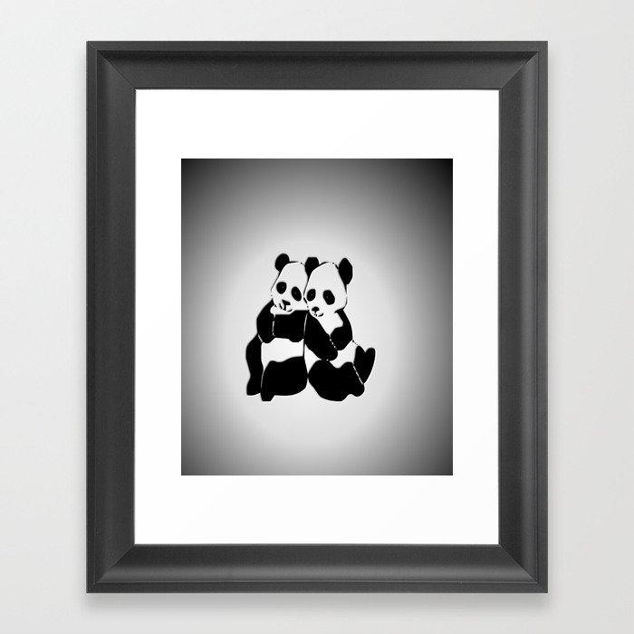 Panda Bears Framed Art Print