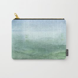 Green Blue blurred watercolor design Carry-All Pouch