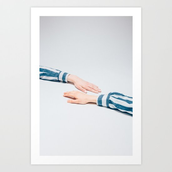 Striped Shirts Art Print