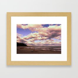 Beach Canoes Framed Art Print