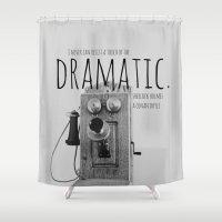 sherlock holmes Shower Curtains featuring Dramatic Sherlock Holmes by KimberosePhotography