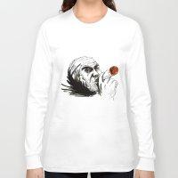 cigarette Long Sleeve T-shirts featuring Cigarette by Anna Pietrawska