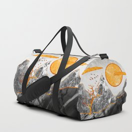 Marble mountains and the fire tree Duffle Bag
