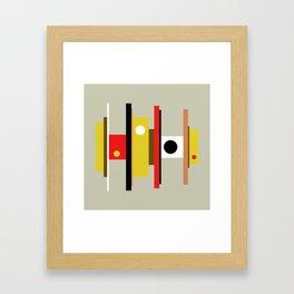Mid Century Geometric Art Design Framed Art Print