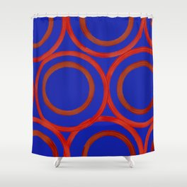 Circulation- BLUE Shower Curtain