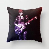 u2 Throw Pillows featuring U2 / The Edge by JR van Kampen