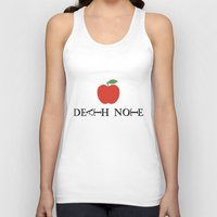 death note Tank Tops featuring Death Note Apple by Thomas Official