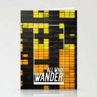 not all who wander Stationery Cards featuring All Who Wander by Wander Creative