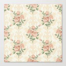 Rose vintage pattern  Canvas Print
