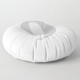 9 (SILVER & WHITE NUMBERS) Floor Pillow