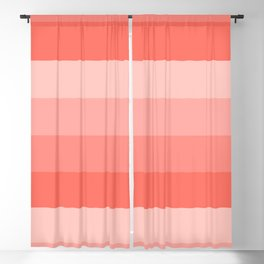 Four Shades of Living Coral Blackout Curtain