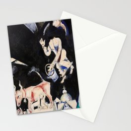 Marc Chagall donkey on the roof Stationery Cards
