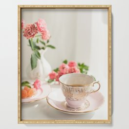 Pink Tea Cup Serving Tray