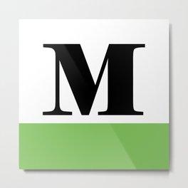Monogram Letter M (color block) Metal Print