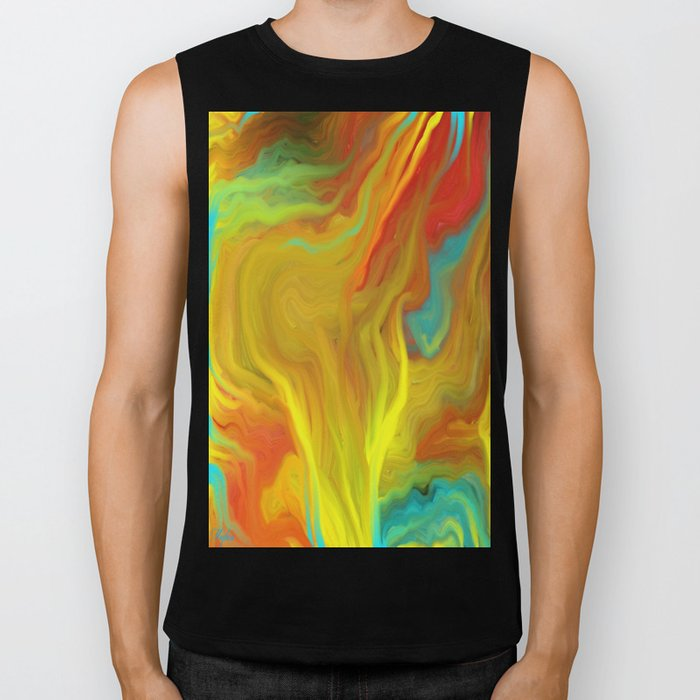 AGATE ABSTRACT OIL PAINTING Biker Tank