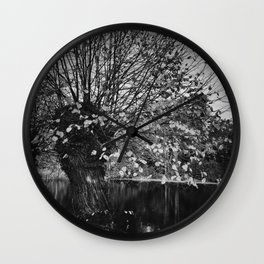 Ghost in the willow Wall Clock