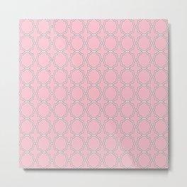 Pink Quatrefoil Pattern Metal Print