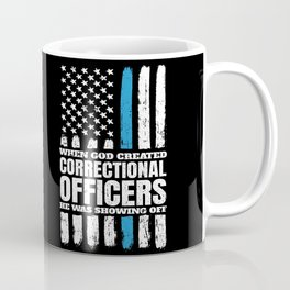 Christian Correctional Officers American Flag Coffee Mug