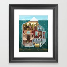 Scene #05: 'The tip of the iceberg' Framed Art Print