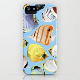 Butterflyfish_Skyblue base iPhone Case